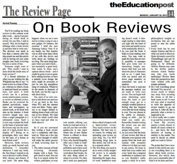 2012_01_28_The Education Post_Review_On Book Reviews