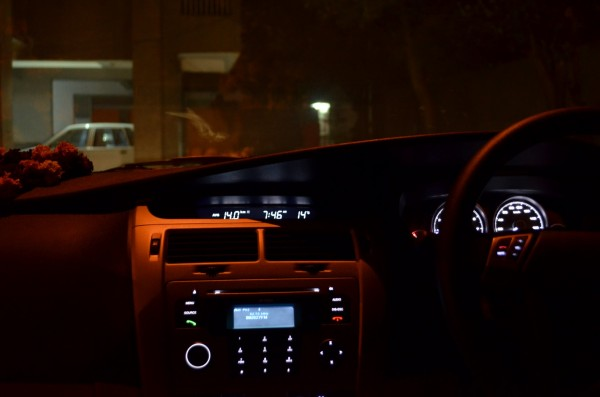 The dashboard charms you when it is dark outside... you even know how much distance you have left before the fuel needs a refill!