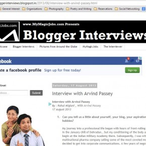 Chit-chat on bloggerinterviews