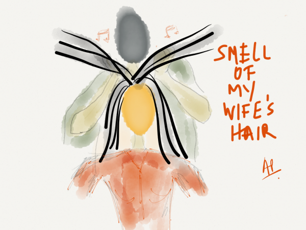 The smell of my wife's hair
