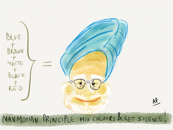 The Manmohan principle of colours