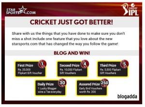 starsports dot com contest_blogadda_2014