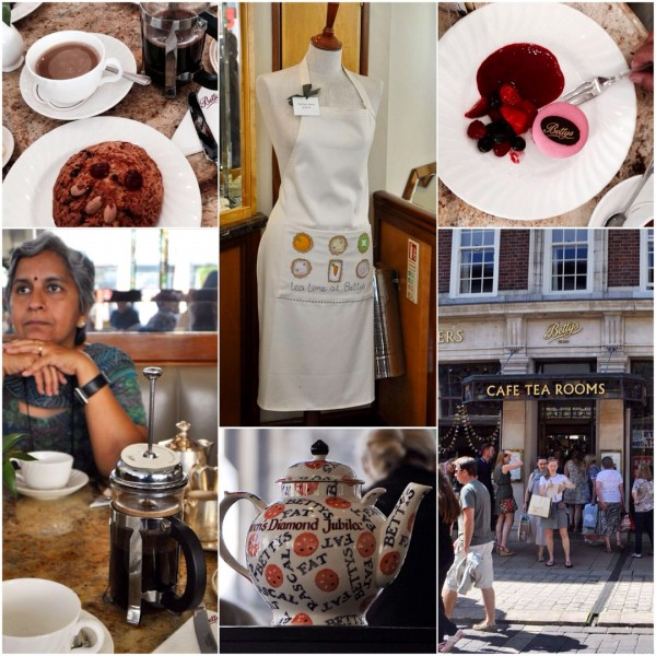 Betty's Tea Room in YORK, UK... famous for serving you tea in silverware and baking the 'fat rascal'