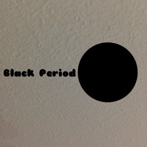 A black period as a screen saver or a painting or on my visiting card